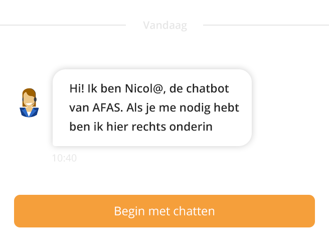 chatbot afas software